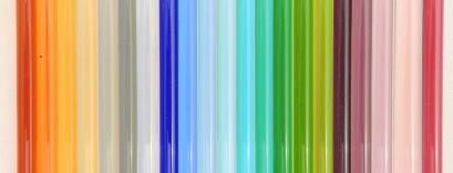 Gamme de verre Murano transparent